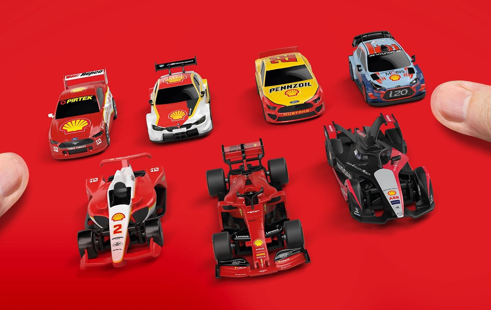 Ta voiture collector Shell Racing t'attend !